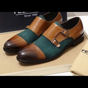 Men's Double Monk Strap Loafers